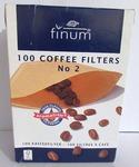 Фильтр бумажный для кофемашин Finum №2 (100 шт)