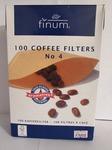 Фильтр бумажный для кофемашин Finum №4 (100 шт)