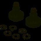 Шестерня (2 шт) в редуктор под венчики для миксера Kenwood KW710547